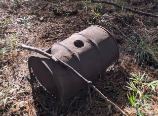 "Remnants of a ""submarine"" style moonshine still found in South Carolina's Francis Marion National Forest"
