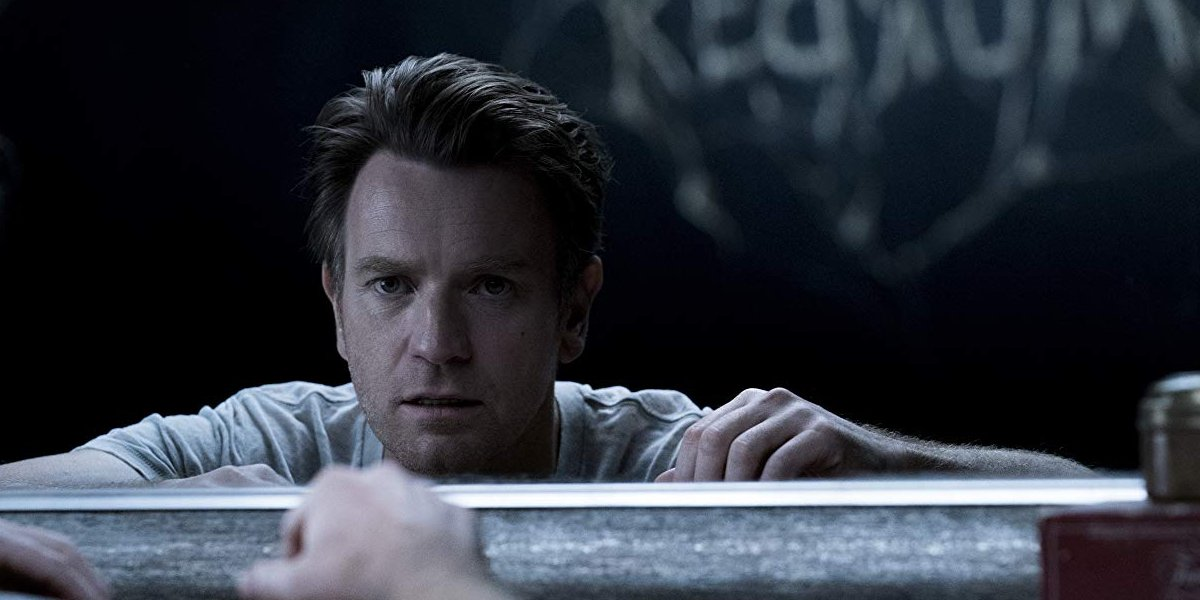 Doctor Sleep Ewan McGregor sees some writing in the mirror