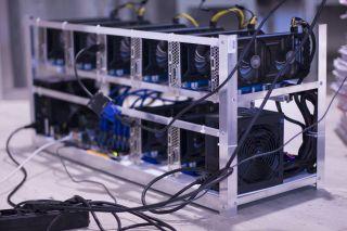 GPU mining rig setup