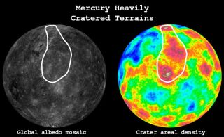 Mercury Heavily Cratered Terrains