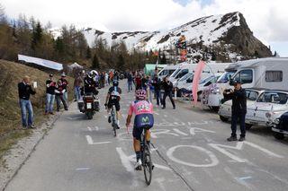 The Giro d'Italia on the Passo Giau in 2016.