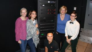 BU Information Services & Technology and LETS contribute to the growth of women in tech. From left: Kathy Morley, Caitlyn Chiappini, Taya Christianson, Linda Jerrett, Sydney Kovar