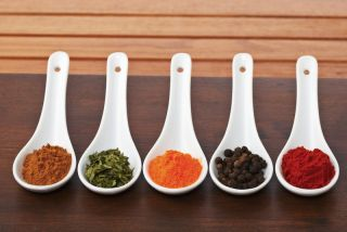 Five spoons of spices.
