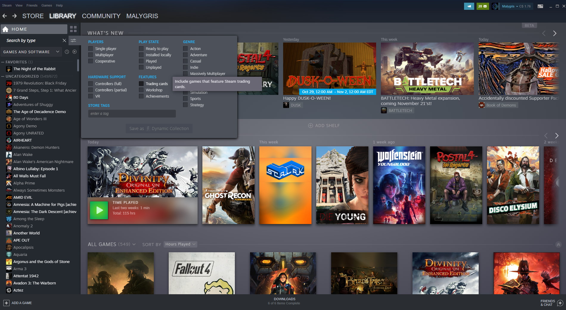 Steam's big library update is now live for everyone | PC Gamer
