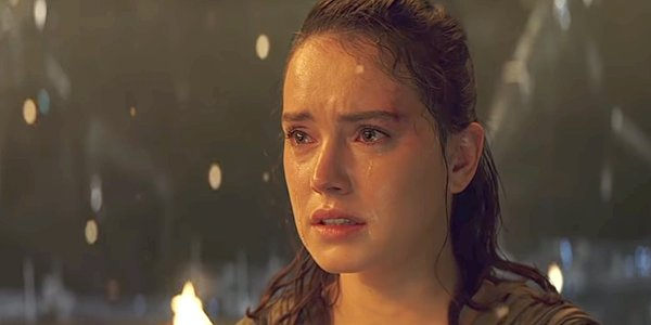 Rey cries talking to Kylo about her parents Star Wars The Last Jedi Lucasfilm