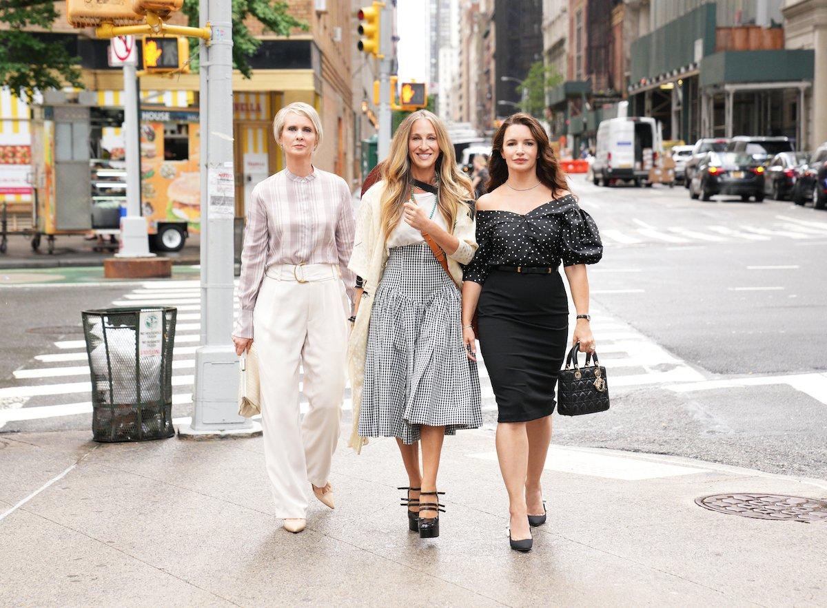 Cynthia Nixon, Sarah Jessica Parker and Kristin Davis in Sex in the City revival