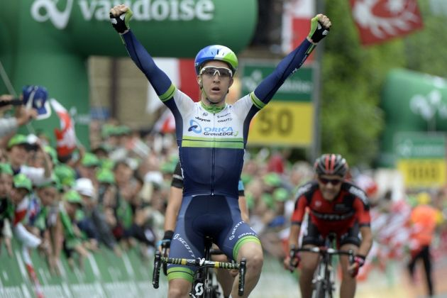 Cameron Meyer wins stage two of the 2014 Tour de Suisse