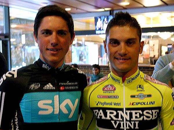 Peter Kennaugh and Andrea Guardini, Giro d'Italia 2012