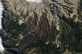 Valparaiso wildfire scars in Chile