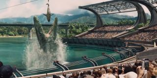 Jurassic World Movie stadium with dinosaur