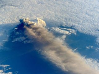 Pavlof Volcano ISS on May 18, 2013.
