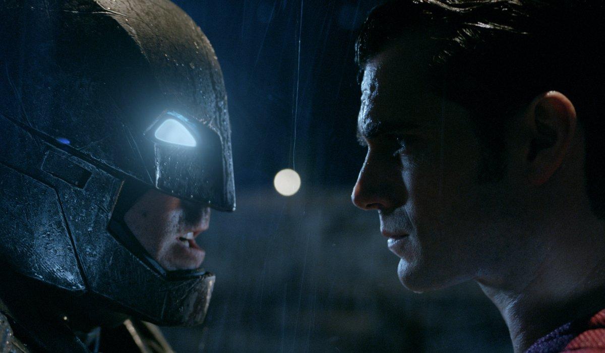 Batman and Superman face off in Batman v. Superman: Dawn of Justice