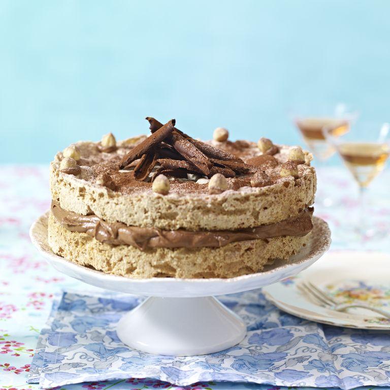 Hazelnut and Nutella Meringue Cake