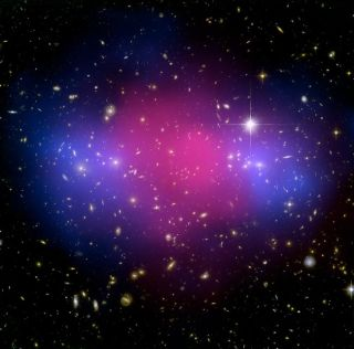 Powerful Cosmic Collision Creates Divorce of Matter