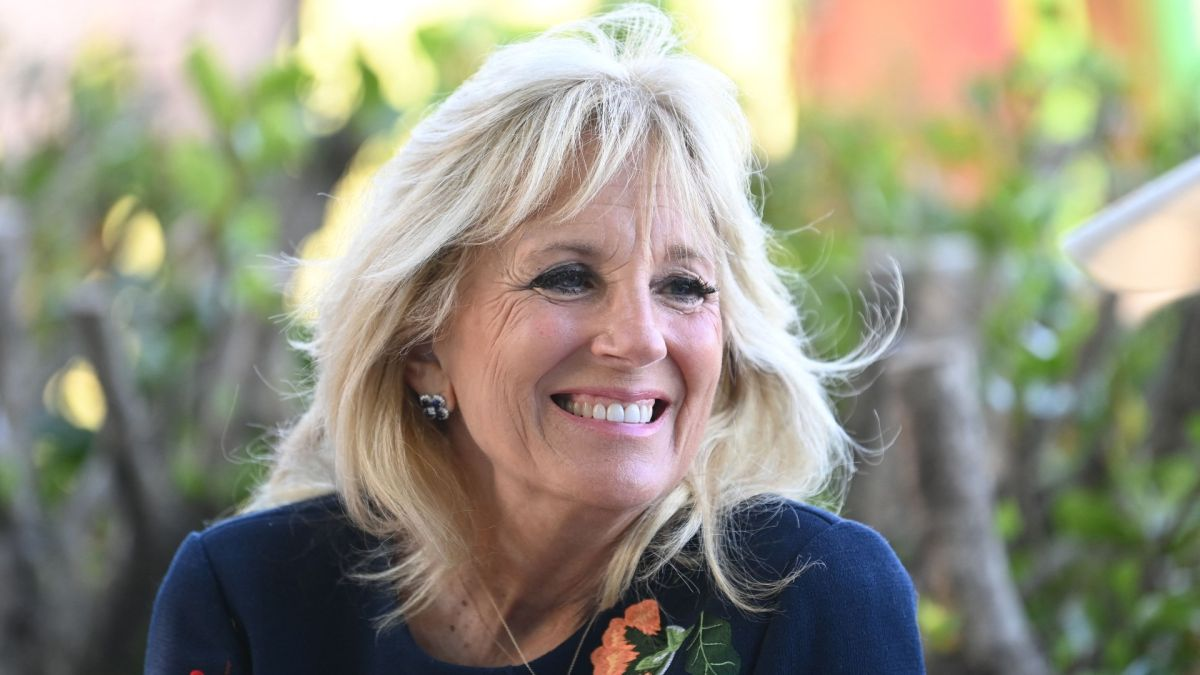 First Lady Dr. Jill Biden proves she's not afraid to recycle fashion as she stuns in floral dress