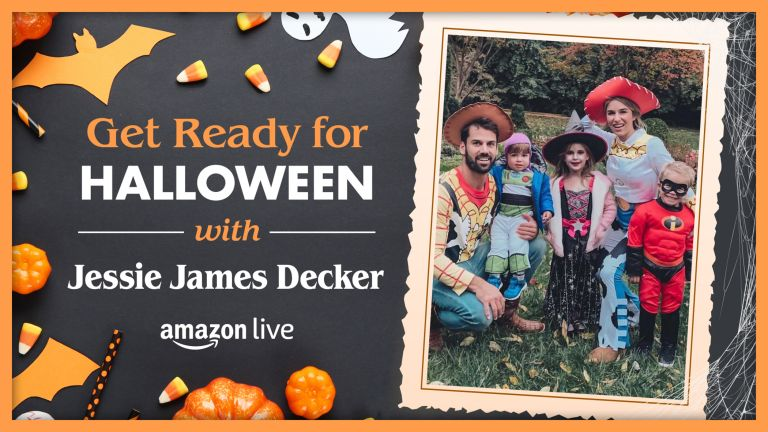 Jessie James Decker Amazon Live halloween decorations