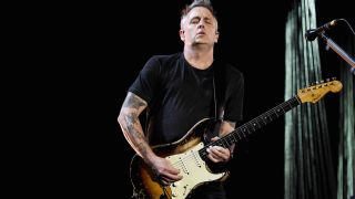 Mike McCready of Temple Of The Dog performs at The Forum on November 14, 2016 in Inglewood, California.
