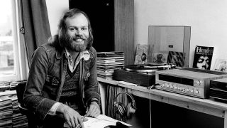 Bob Harris in the Old Grey Whistle Test Office, 1973