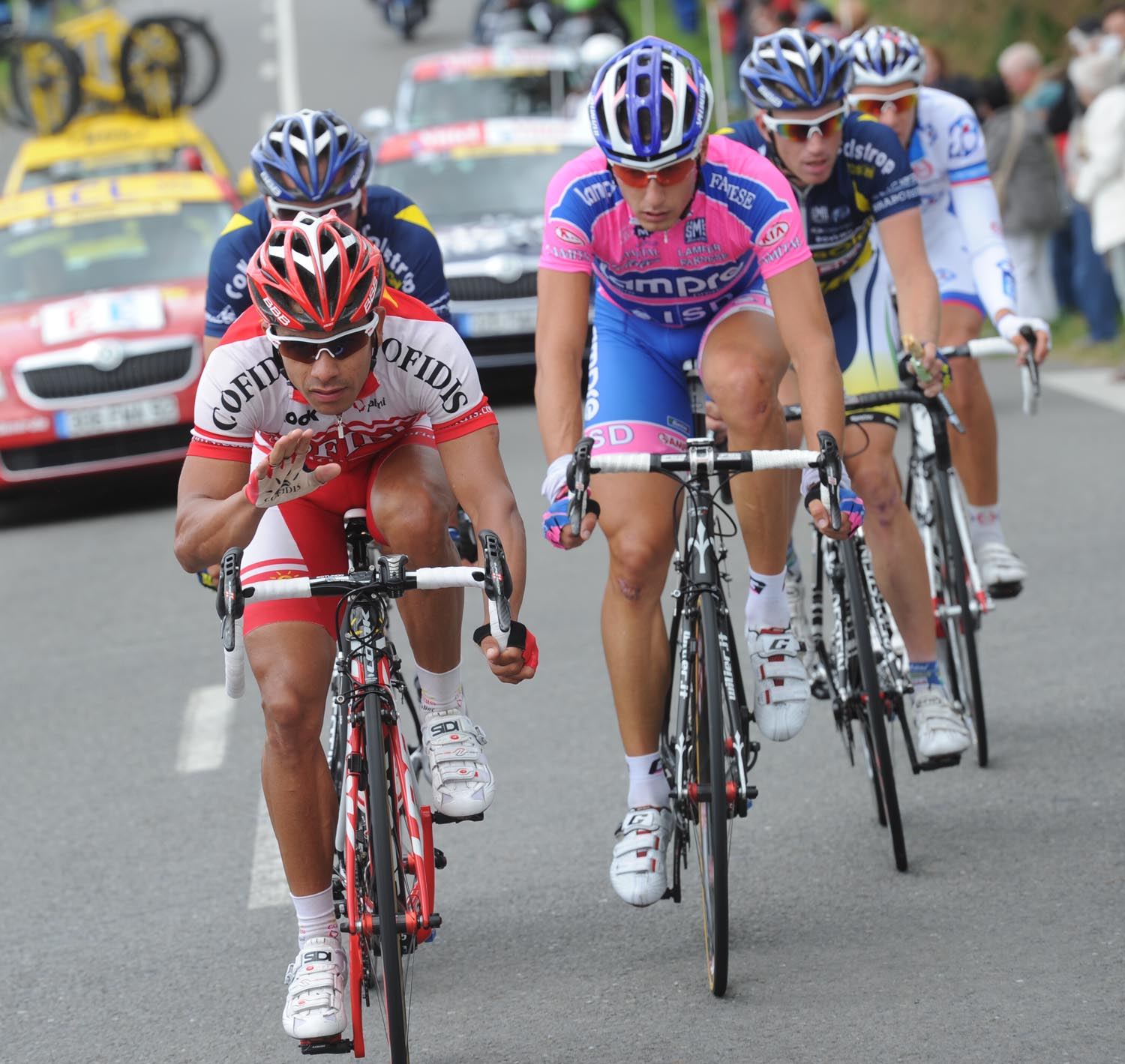 Leonardo Duque leads break, Tour de France 2011, stage six