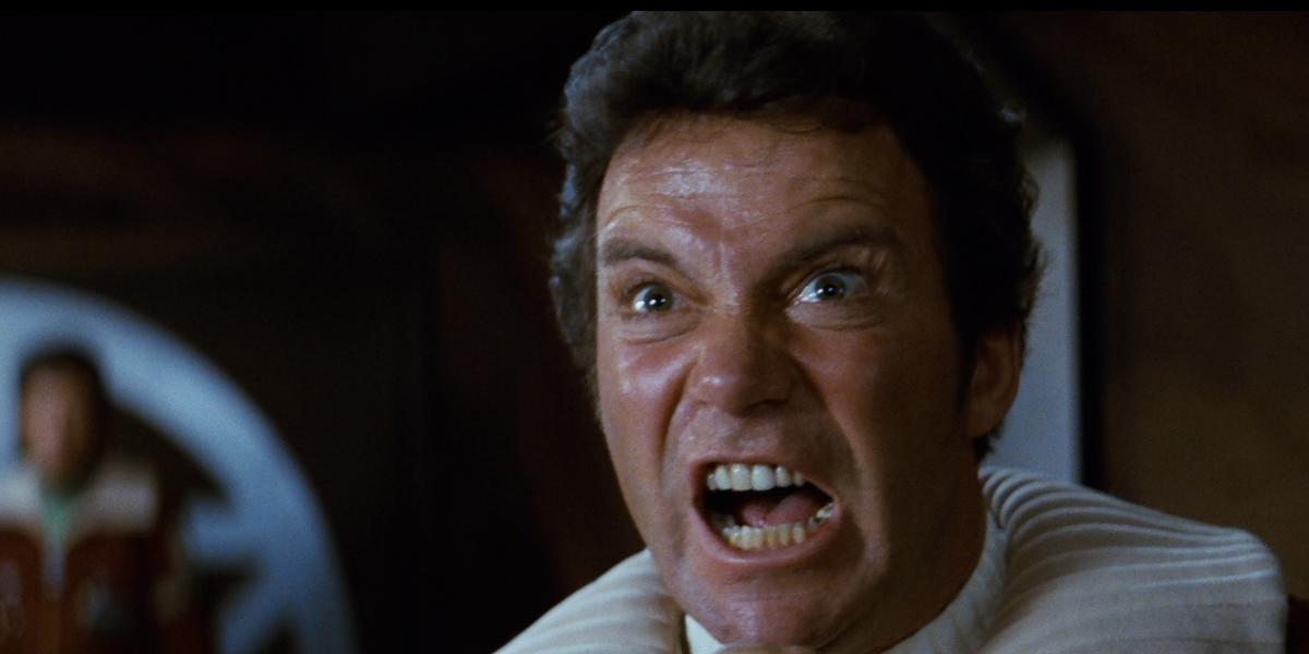 William Shatner in Star Trek II: The Wrath of Khan