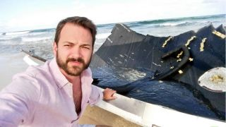 Eichelberger with SpaceX Falcon 9 Wreckage