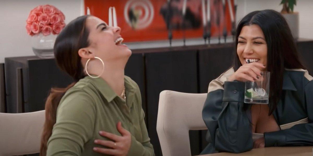 screenshot addison rae kourtney kardashian Keeping Up With the Kardashians