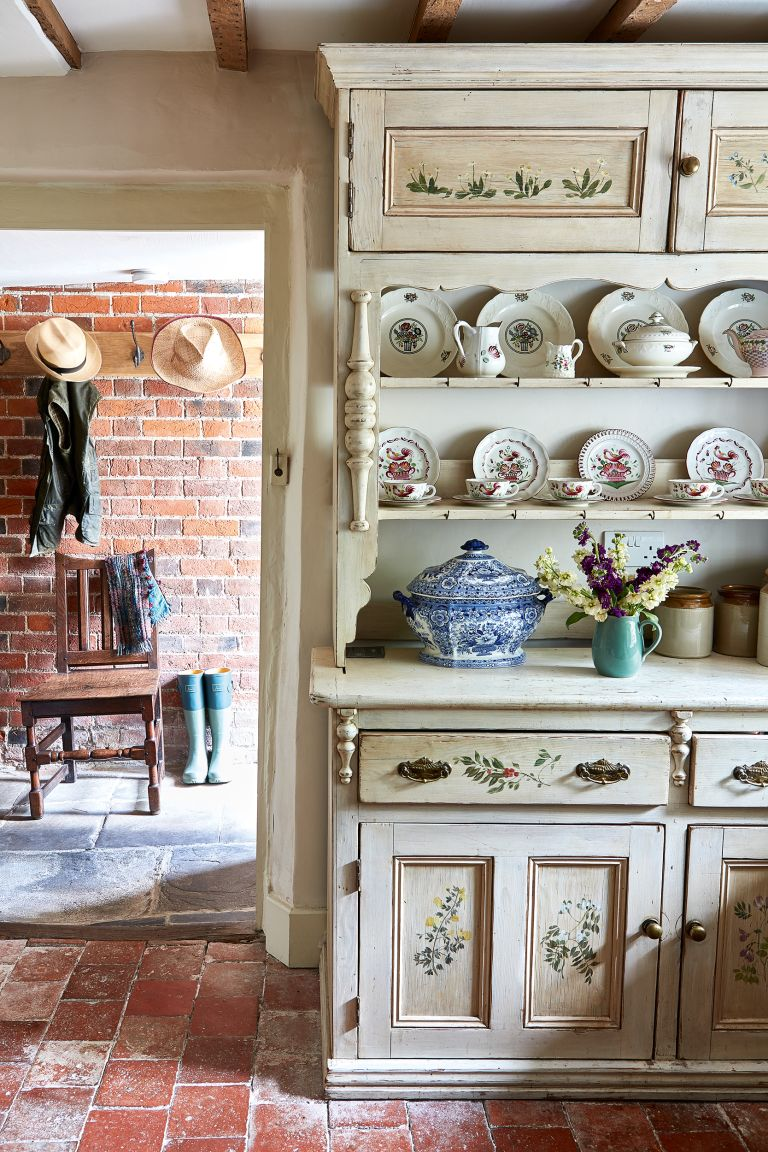 French Dresser With A Country Style Paint Effect