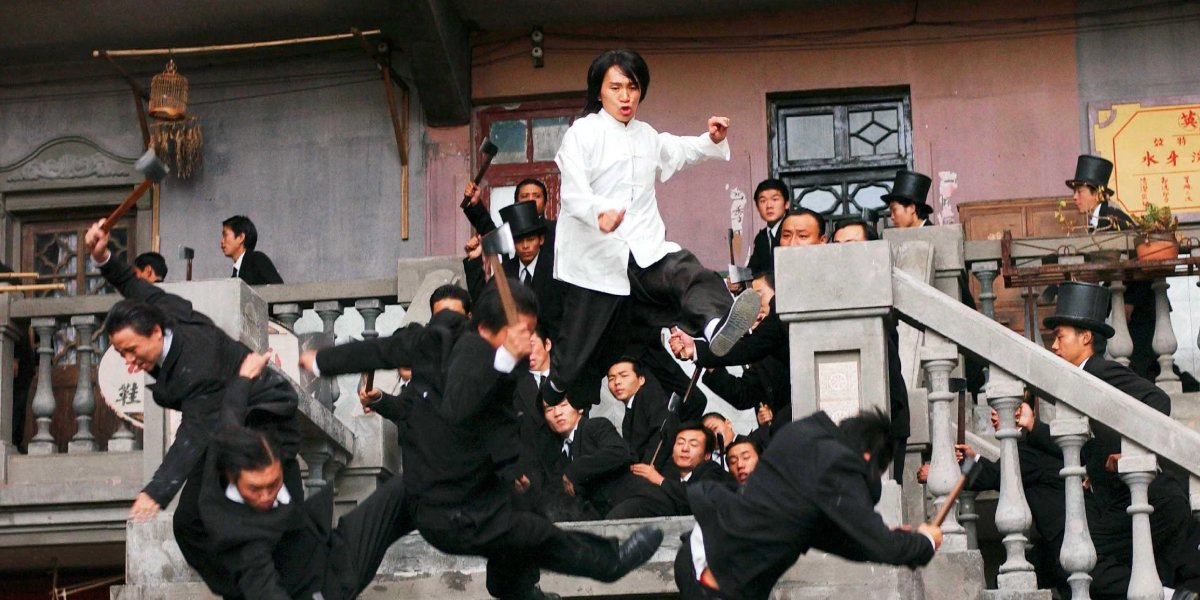 Stephen Chow (center) in Kung Fu Hustle