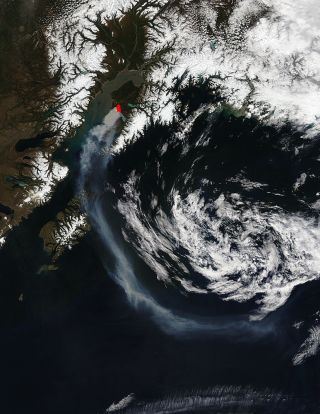 alaska funny river fire from space
