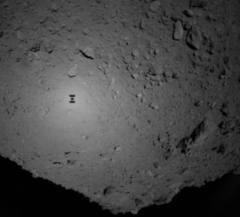 Are Japanese Hopping Robots Safe on Asteroid Ryugu?