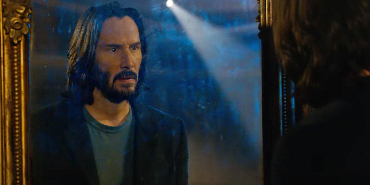 Keanu Reeves as Neo in Matrix Resurrections