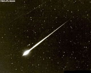 ation shows a fireball seen in 1966 by astronomer Jim Young of JPL's Table Mountain Observatory.
