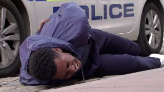 James Bailey is attacked in Coronation Street.