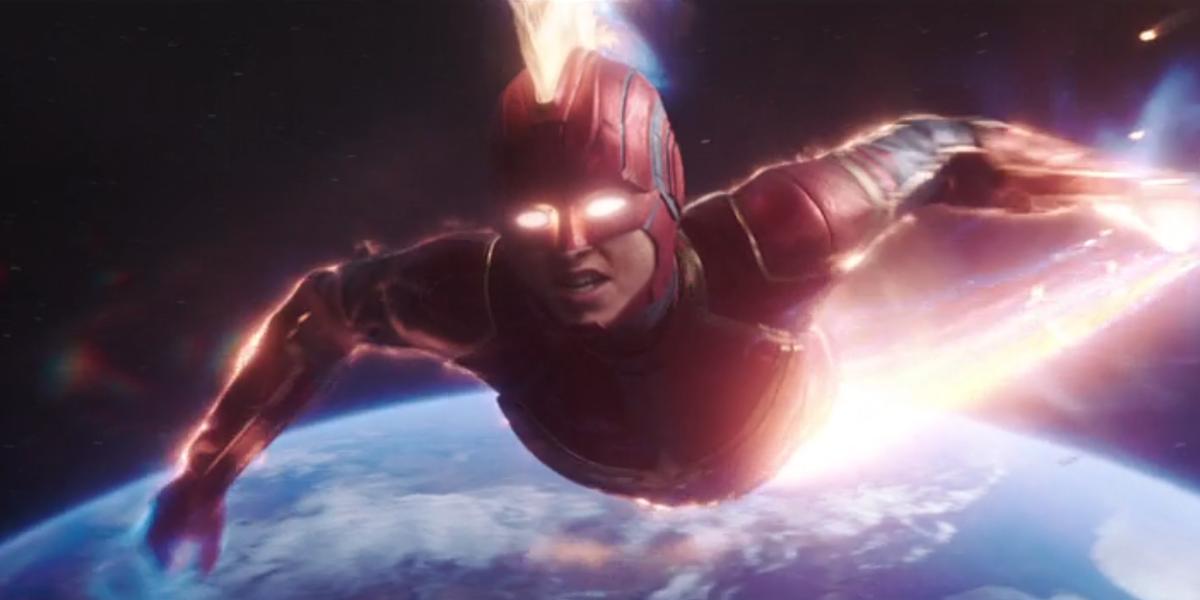 Captain Marvel in her final battle
