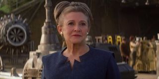Carrie Fisher as regal Princess Leia in The Force Awakens