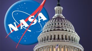 Capitol Hill and NASA logo