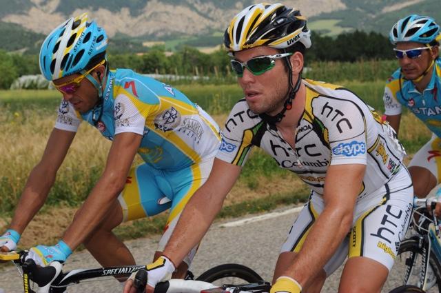 Alberto Contador and Mark Cavendish, Tour de France 2010, stage 11