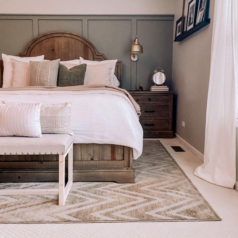 Liz Hartmann gray bedroom DIY