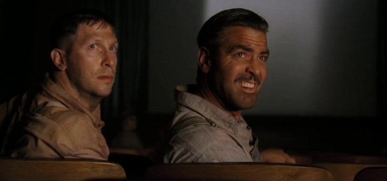 O Brother Where Art Thou Tim Blake Nelson and George Clooney at the movies