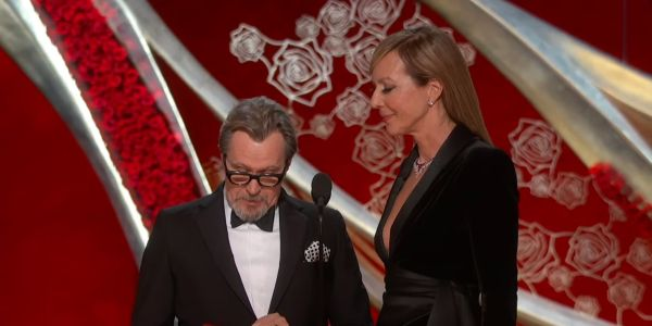 Gary Oldman and Allison Janney Presenting Best ACtor at the 2019 Academy Awards