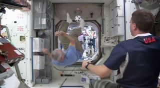 Astronauts Play Soccer Aboard Space Station
