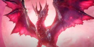 A big ol red dragon from Monster Hunter Rise Sunbreak