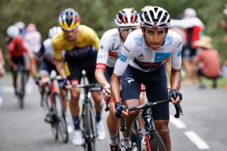 Egan Bernal of Ineos Grenadiers pictured in action during stage nine of the 107th edition of the Tour de France cycling race from Pau to Laruns 153 km in France Sunday 06 September 2020 This years Tour de France was postponed due to the worldwide Covid19 pandemic The 2020 race starts in Nice on Saturday 29 August and ends on 20 September BELGA PHOTO YUZURU SUNADA Photo by YUZURU SUNADABELGA MAGAFP via Getty Images