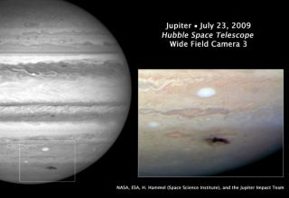Hubble Telescope Photographs Jupiter Impact Site