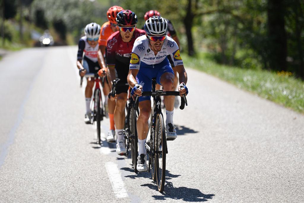 Julian Alaphilippe leads the attack