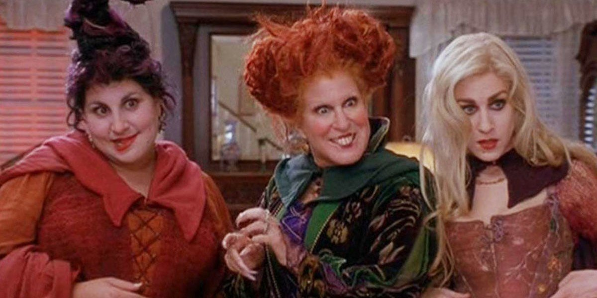 Bette Midler, Sarah Jessica Parker, and Kathy Najimy in Hocus Pocus