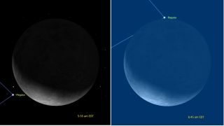 Moon Occults Regulus - October 2017