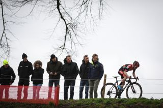 Pauwels Sauzen-Bingoal's Eli Iserbyt power to victory at the 2020 Vestingcross in Hulst, in the Netherlands