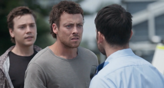 Dean Thompson, Ryder Jackson and Cash Newman look for Mackenzie Booth in Home and Away.
