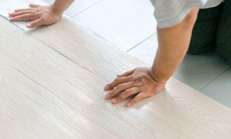 Installing light colored vinyl plank flooring